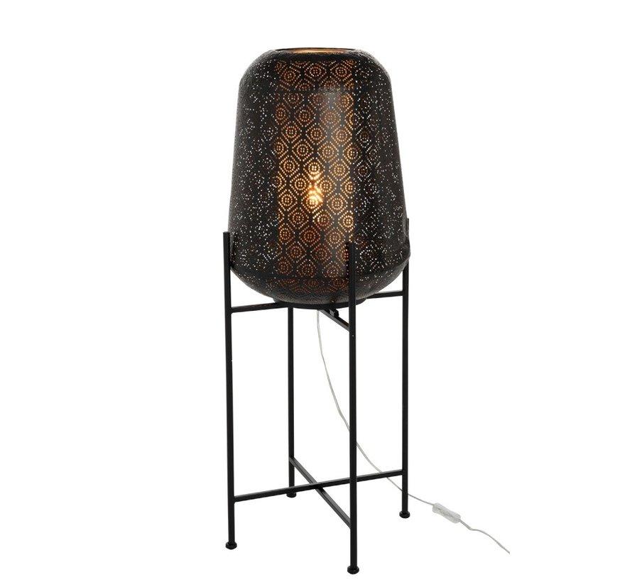 Staande Lamp Metaal Oosters Voet  Zwart - Large