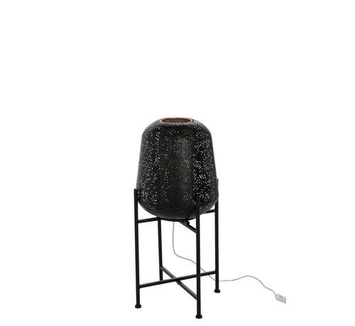 J -Line Floor Lamp Metal Oriental Foot Black - Small