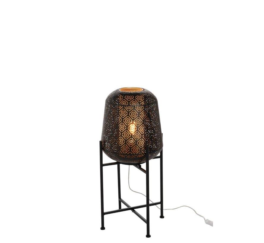 Floor Lamp Metal Oriental Foot Black - Small