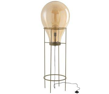 J -Line Staande Lamp Luchtballon Glas Metaal Goud - Large
