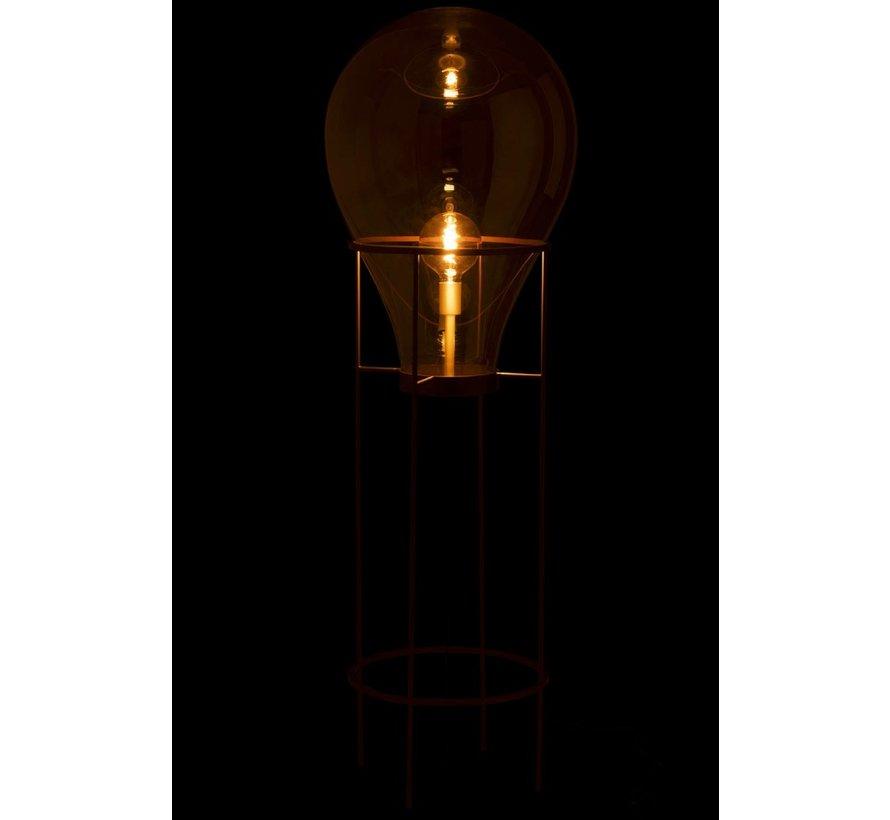 Standing Lamp Hot Air Balloon Glass Metal Gold - Large