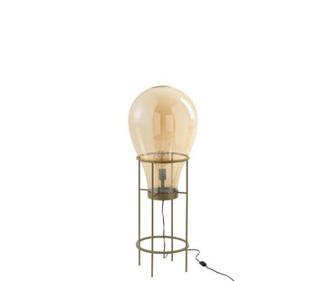 J -Line Standing Lamp Hot Air Balloon Glass Metal Gold - Medium