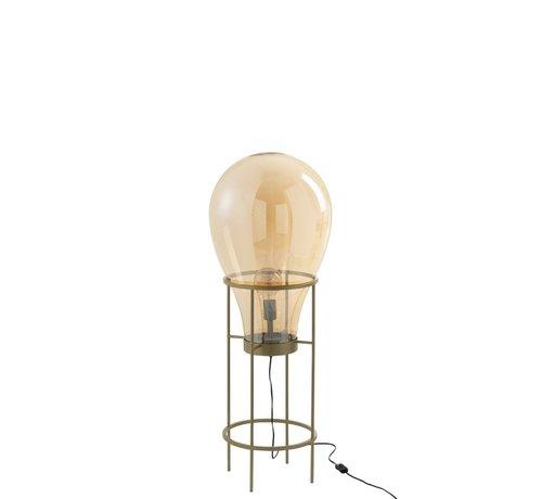 J -Line Standing Lamp Hot Air Balloon Glass Metal Gold - Medium
