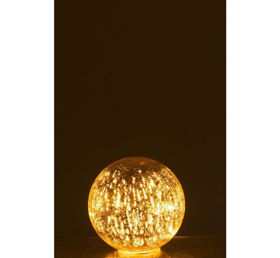 Table lamp Bulb Glass Led Champagne - Small