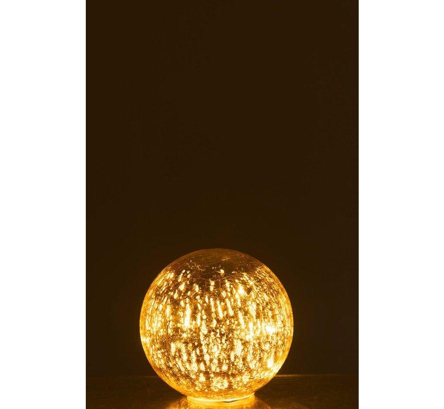 Tafellamp Bol Glas Led Champagne - Small