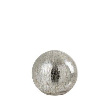 J -Line Tafellamp Bol Glas Led Zilver - Large