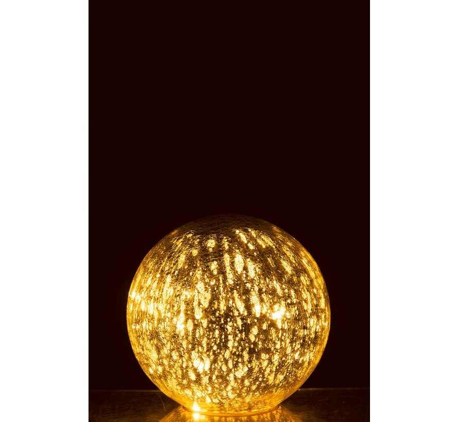 Table lamp Bulb Glass Led Silver - Large