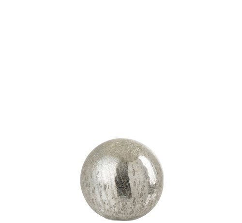 J -Line Tafellamp Bol Glas Led Zilver - Small