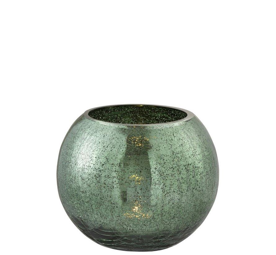 Theelichthouder Bol Glas Groen - Large