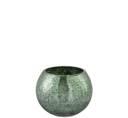J -Line Theelichthouder Bol Glas Groen - Medium