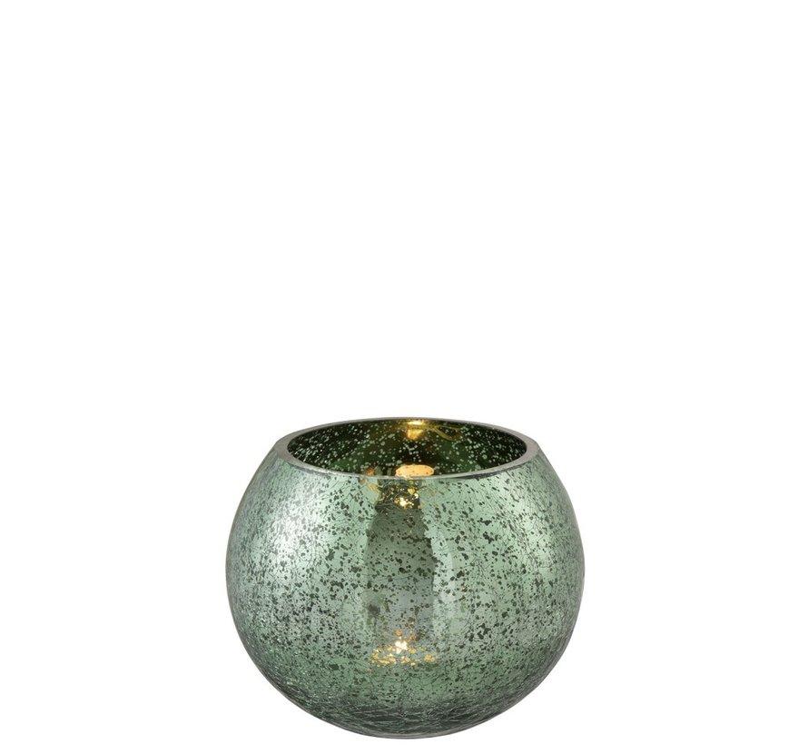 Theelichthouder Bol Glas Groen - Medium