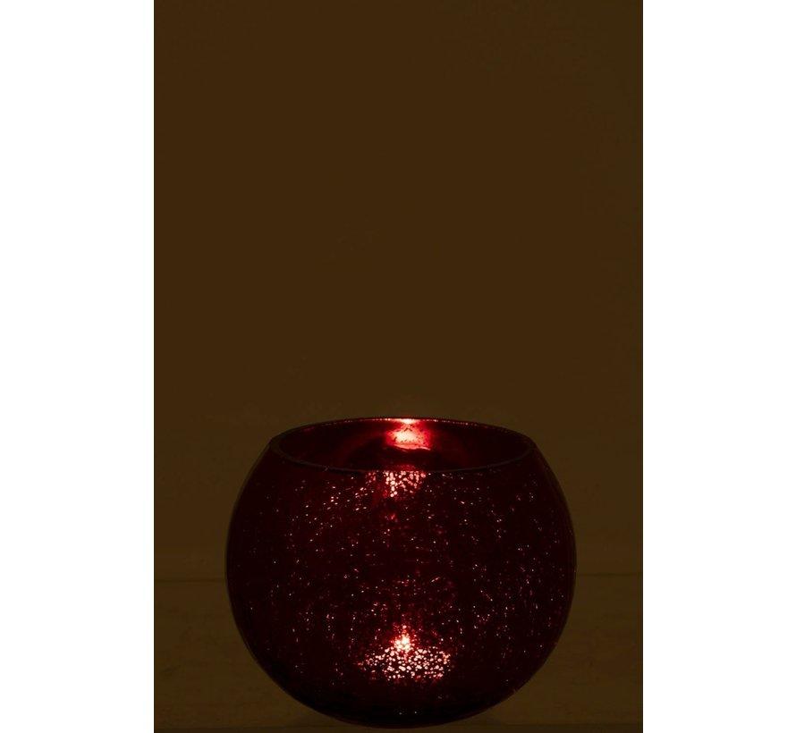 Tealight Holder Bulb Glass Shiny Red - Medium