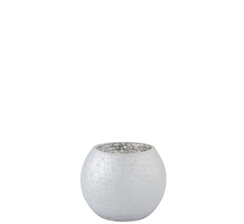 J -Line Tealight Holder Bulb Glass Shiny Silver - Small