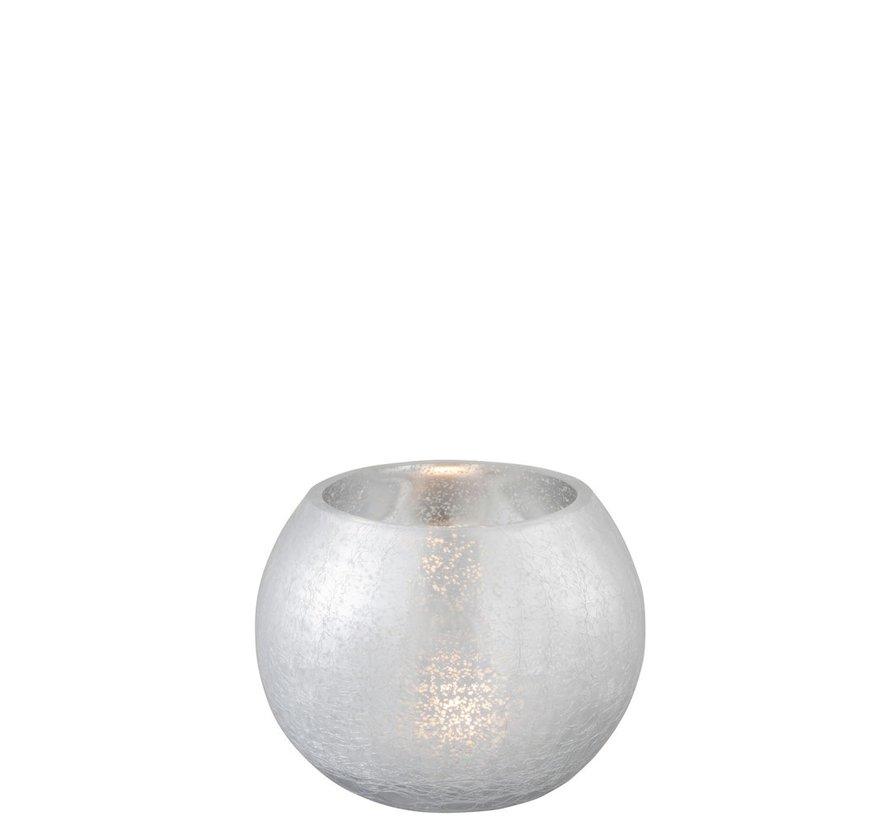 Tealight holder Bulb Glass Shiny Silver - Medium