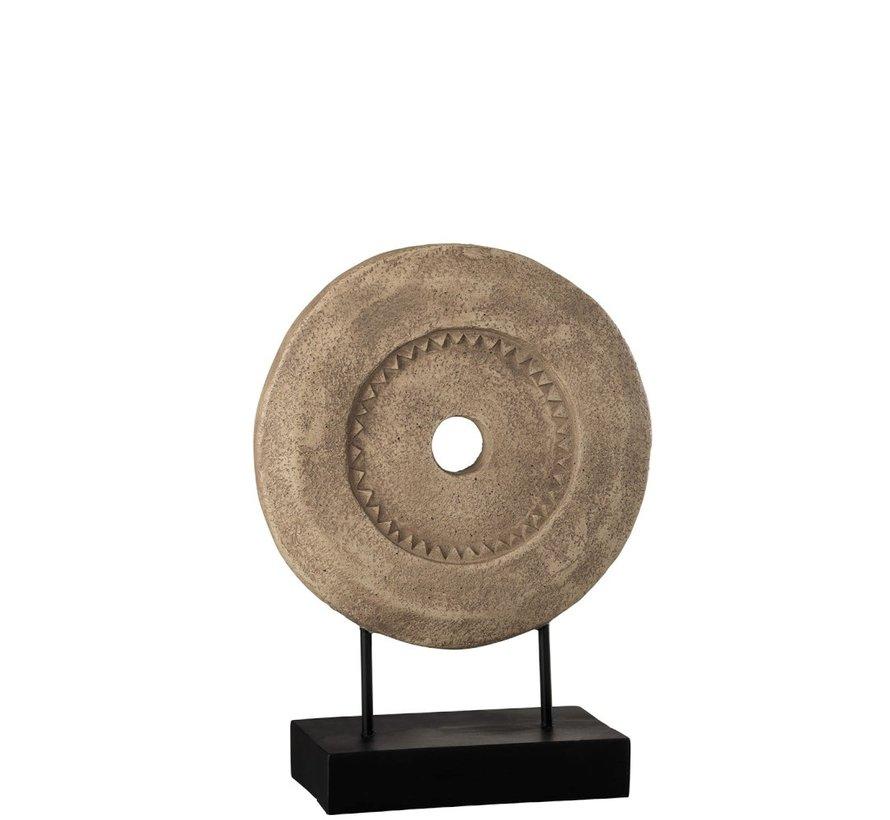 Decoratie Cirkel Op Voet Lichtbruin - Donkerbruin