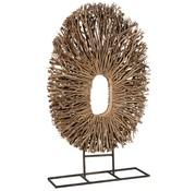 J -Line Decoratie Cirkel Op Voet Takken Naturel - Large