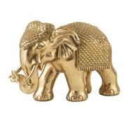 J -Line Decoration Sculpture Elephant Mirror Gold - Extra Large