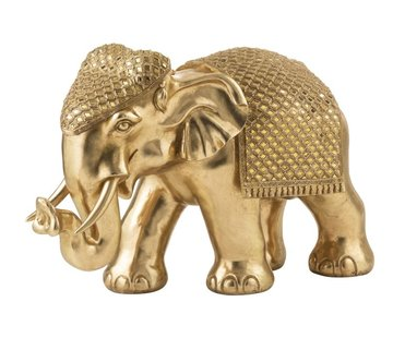 J -Line Decoration Sculpture Elephant Mirror Gold - Extra Large
