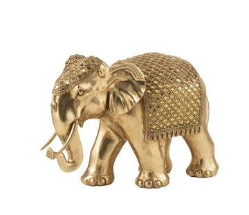 J -Line Decoration Sculpture Elephant Mirror Gold - Large
