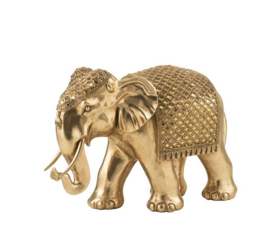Decoration Sculpture Elephant Mirror Gold - Large