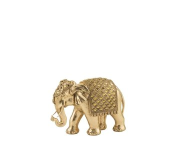 J -Line Decoration Sculpture Elephant Mirror Gold - Medium