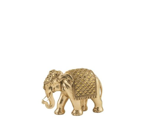 J -Line Decoration Sculpture Elephant Mirror Gold - Medium