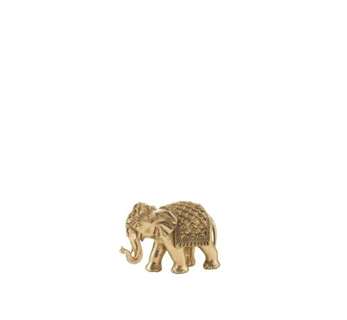 J -Line Decoration Sculpture Elephant Mirror Gold - Small