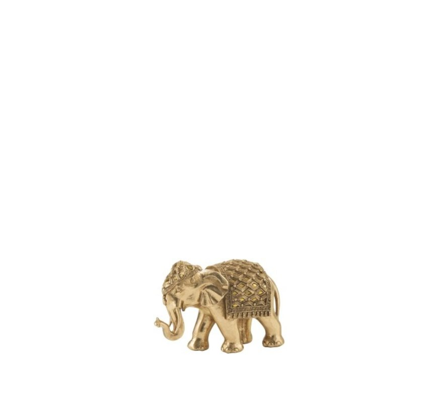 Decoration Sculpture Elephant Mirror Gold - Small