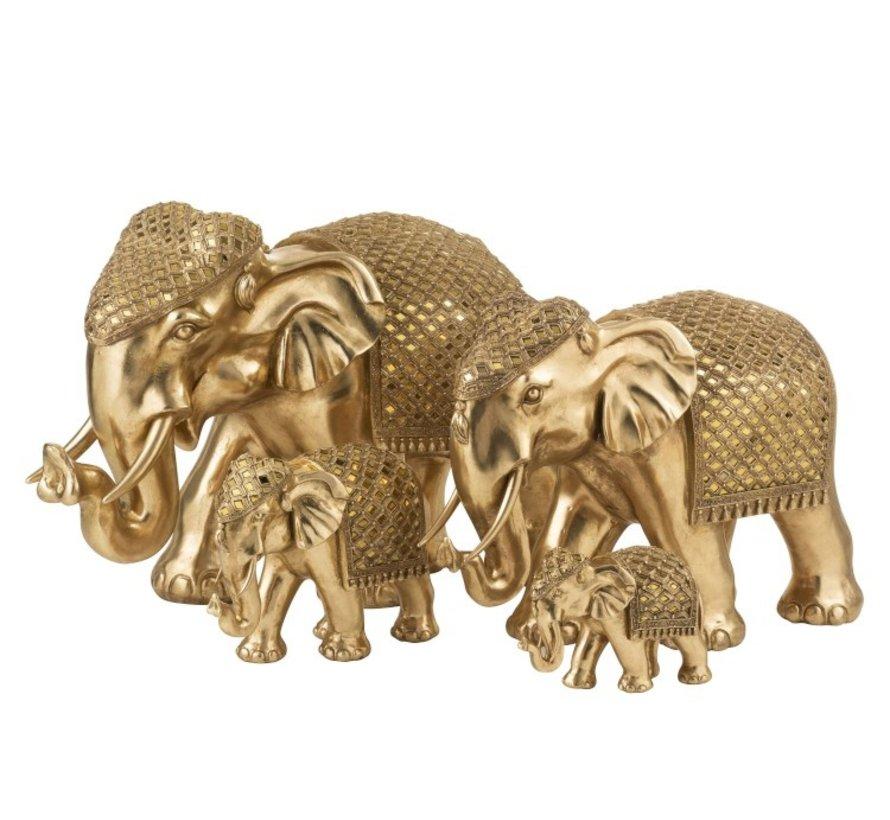 Statue Elephant Gold Mirror Small