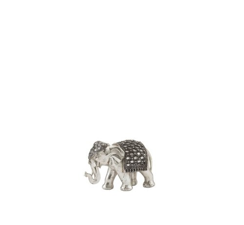J -Line Decoration Sculpture Elephant Mirror Silver - Small