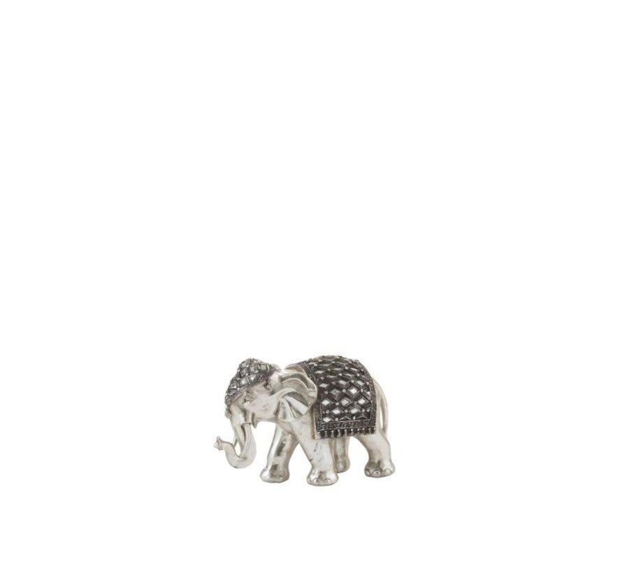 Beeldje Olifant Spiegel Zilver Small
