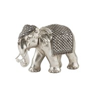 J -Line Decoration Sculpture Elephant Mirror Silver - Large