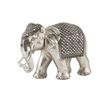 J-Line Figurine Elephant Mirror Silver Large