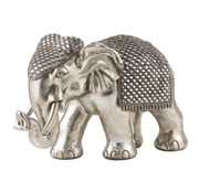 J -Line Decoration Sculpture Elephant Mirror Silver - Extra Large