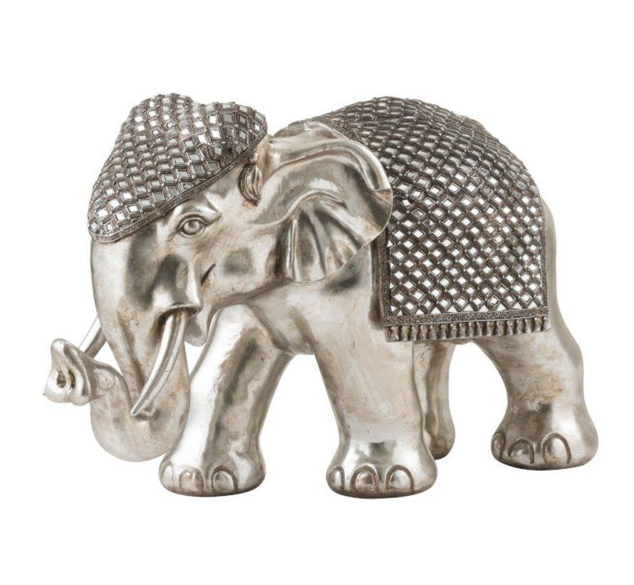 Beeld Olifant Zilver Extra Large
