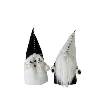 J-Line Decoration doll Santa Claus Textile Black White - Large