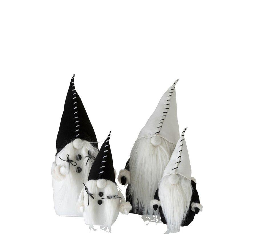 Decoration doll Santa Claus Textile Black White - Small