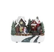 J-Line Decoratie Kersthuisje Winterfiguren Sneeuwman Led  - Mix