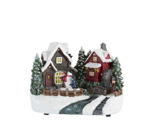 J -Line Decoration Christmas house Winter figures Snowman Led - Mix