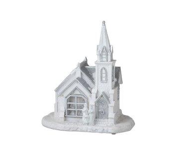 J-Line Decoration Church Winter Led Lighting White - Silver