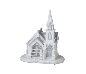 J -Line Decoration Church Winter Led Lighting White - Silver