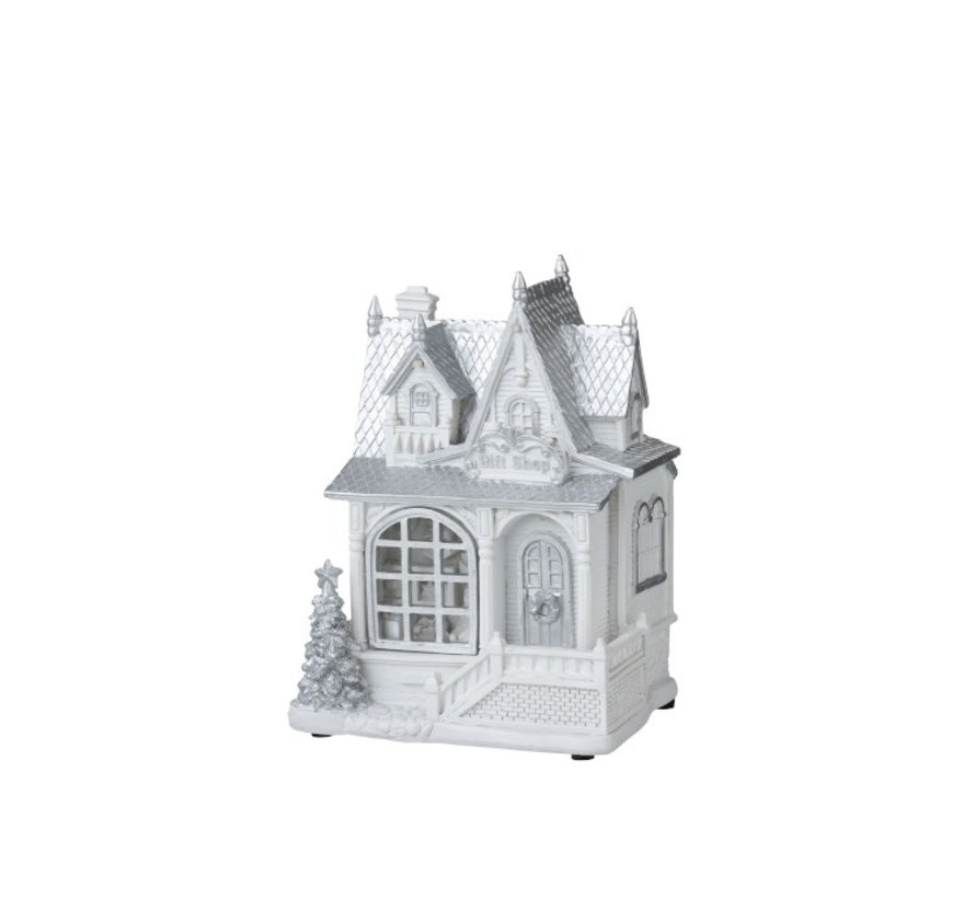 Decoratie Huis Winter Led Verlichting Wit - Zilver
