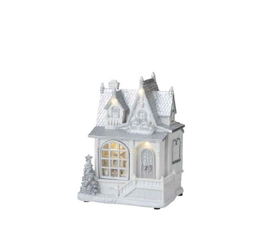 Decoration House Winter Led Lighting White - Silver