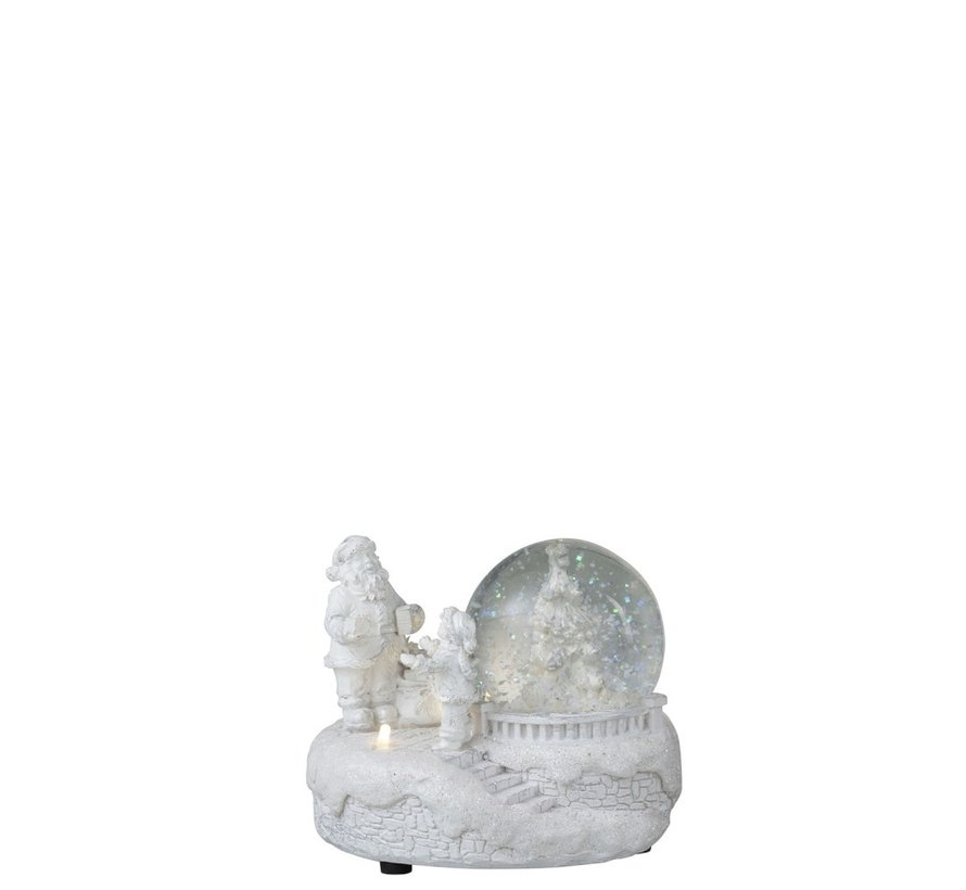 Decoration Snow Globe Winter Led Lighting Glitters - White