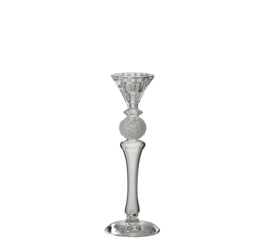Candlestick Glass Sugar Bowl Transparent - Small
