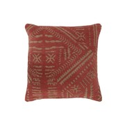 J -Line Cushion Cotton Ethnic Print Orange - Beige