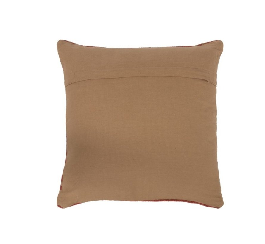 Cushion Cotton Ethnic Print Orange - Beige