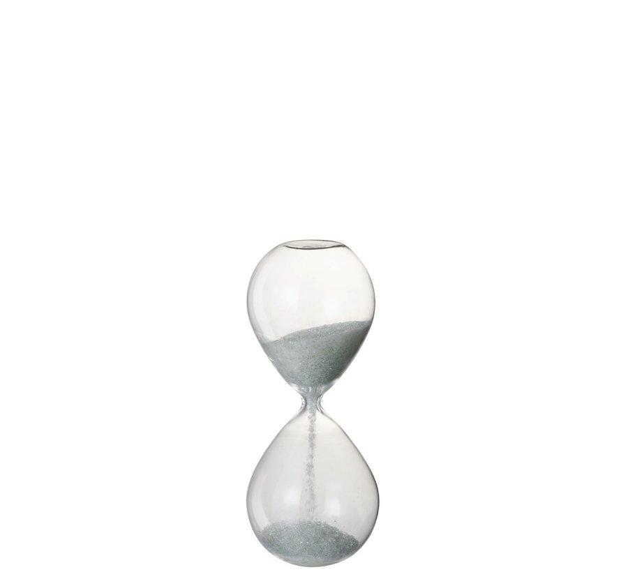Decoratie Zandloper Glas Wit Parels - Medium