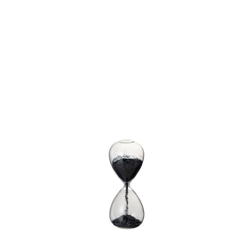 J -Line Decoration Hourglass Glass Black Pearls - X Large