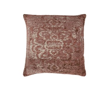 J -Line Cushion Cotton Square Faded Print - Pink